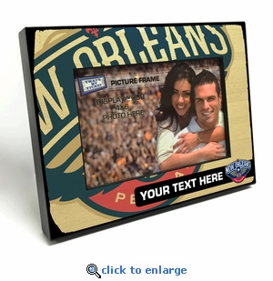 New Orleans Pelicans Personalized Black Wood Edge 4x6 inch Picture Frame