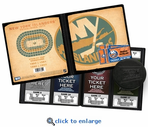 Personalized New York Islanders Ticket Album - Vintage Design