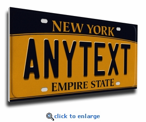 Personalized New York License Plate Print on Canvas