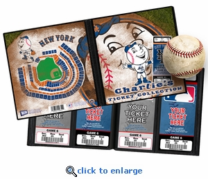 Personalized New York Mets Mascot Ticket Album - Mr Met