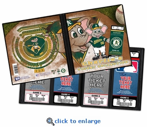 Personalized Oakland Athletics Mascot Ticket Album - Stomper