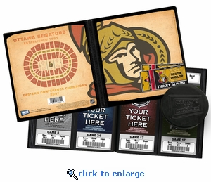 Personalized Ottawa Senators Ticket Album - Vintage Design