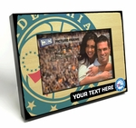 Philadelphia 76ers Personalized Black Wood Edge 4x6 inch Picture Frame