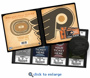Personalized Philadelphia Flyers Ticket Album - Vintage Design