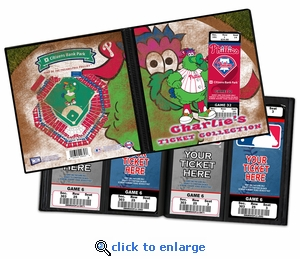 Personalized Philadelphia Phillies Mascot Ticket Album - Phillie Phanatic