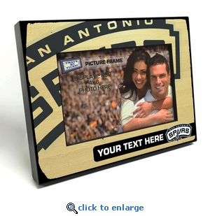 San Antonio Spurs Personalized Black Wood Edge 4x6 inch Picture Frame
