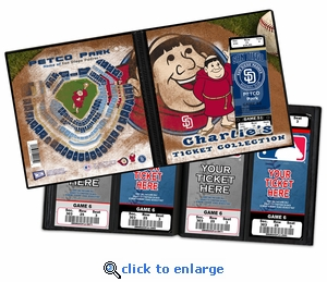 Personalized San Diego Padres Mascot Ticket Album - Swinging Friar
