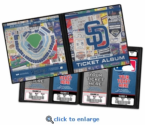 Personalized San Diego Padres Ticket Album