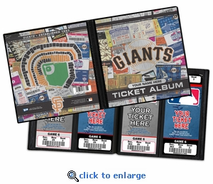 Personalized San Francisco Giants Ticket Album