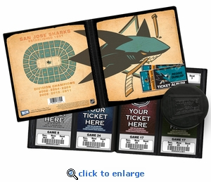 Personalized San Jose Sharks Ticket Album - Vintage Design