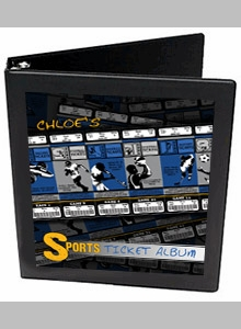 Personalized Sports Ticket Binder