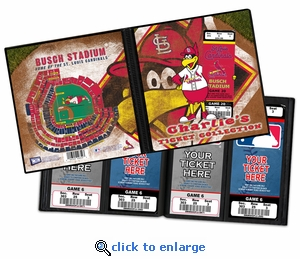 Personalized St Louis Cardinals Mascot Ticket Album - Fredbird