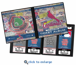 Personalized St Louis Cardinals Ticket Album