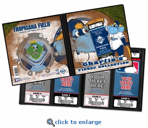 Personalized Tampa Bay Rays Mascot Ticket Album - Raymond