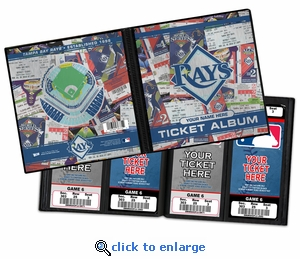 Personalized Tampa Bay Rays Ticket Album