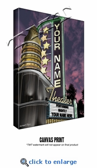 Personalized Theater Marquee Print