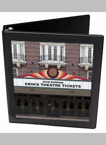 Personalized Theatre Ticket Binder