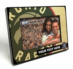 Toronto Raptors Personalized Black Wood Edge 4x6 inch Picture Frame