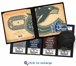 Personalized Vancouver Canucks Ticket Album - Vintage Design