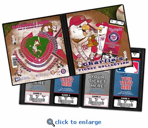 Personalized Washington Nationals Mascot Ticket Album - Screech and The Presidents