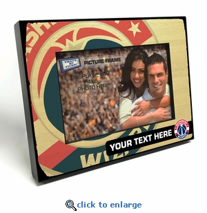 Washington Wizards Personalized Black Wood Edge 4x6 inch Picture Frame