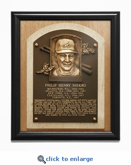 Phil Niekro Baseball Hall of Fame Plaque Framed Print - Atlanta Braves