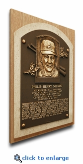 Phil Niekro Baseball Hall of Fame Plaque on Canvas - Atlanta Braves