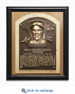 Phil Rizzuto Baseball Hall of Fame Plaque Framed Print - New York Yankees