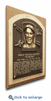 Phil Rizzuto Baseball Hall of Fame Plaque on Canvas - New York Yankees