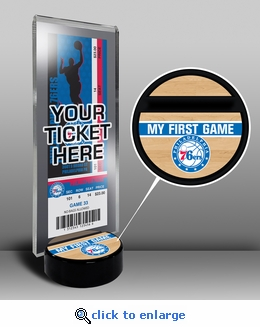 Philadelphia 76ers My First Game Ticket Display Stand