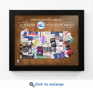 Philadelphia 76ers Personalized State of Mind Framed Print - Pennsylvania