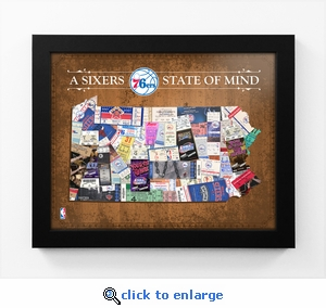 Philadelphia 76ers State of Mind Framed Print - Pennsylvania