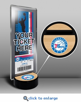 Philadelphia 76ers Ticket Display Stand