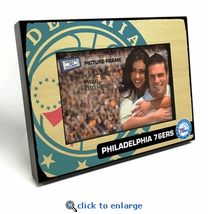 Philadelphia 76ers Black Wood Edge 4x6 inch Picture Frame