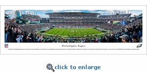 Philadelphia Eagles - 50 Yard Line - Panoramic Photo (13.5 x 40)