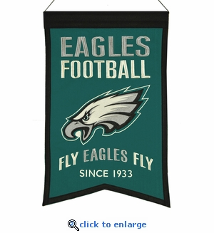 Philadelphia Eagles Franchise Wool Banner (14 x 22)
