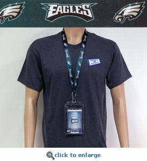 Philadelphia Eagles Lanyard Key Chain Bottle Opener and Ticket Holder