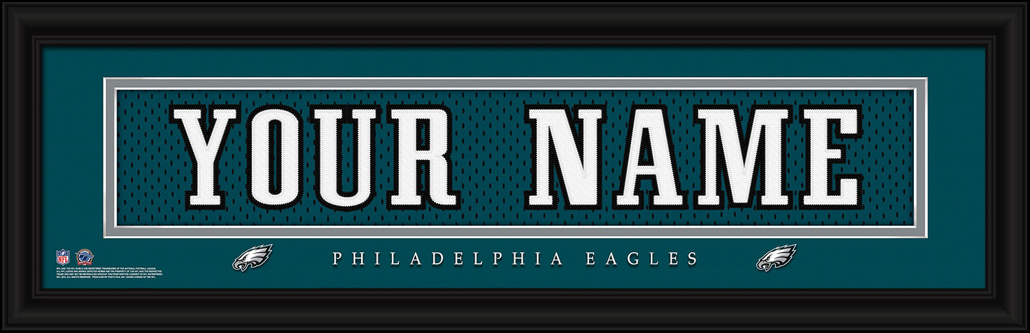 23922e8c6c0 NFL Personalized Jersey Nameplate Prints