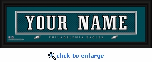 Philadelphia Eagles Personalized Stitched Jersey Nameplate Framed Print