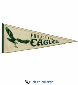 Philadelphia Eagles Throwback Wool Pennant (13 x 32)