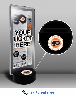 Philadelphia Flyers My First Game Hockey Puck Ticket Stand