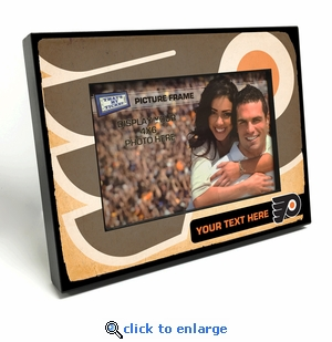 Philadelphia Flyers Personalized Vintage Style Black Wood Edge 4x6 inch Picture Frame