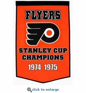 Philadelphia Flyers Stanley Cup Dynasty Wool Banner (24 x 36)