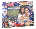 Philadelphia Phillies Padded Front 4x6 Picture Frame - Ticket Collage Design
