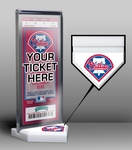 Philadelphia Phillies Home Plate Ticket Display Stand