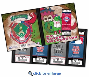 Philadelphia Phillies Mascot Ticket Album - Phillie Phanatic