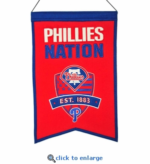 Philadelphia Phillies Nations Wool Banner (14 x 22)
