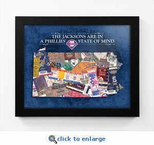 Philadelphia Phillies Personalized State of Mind Framed Print - Pennsylvania