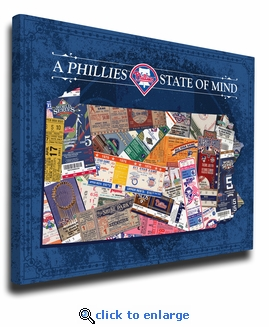 Philadelphia Phillies State of Mind Canvas Print - Pennsylvania