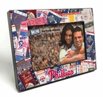 Philadelphia Phillies Ticket Collage Black Wood Edge 4x6 inch Picture Frame